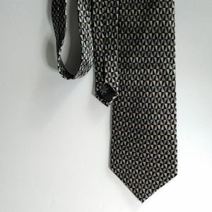 Other - Geometric Print Silk Tie